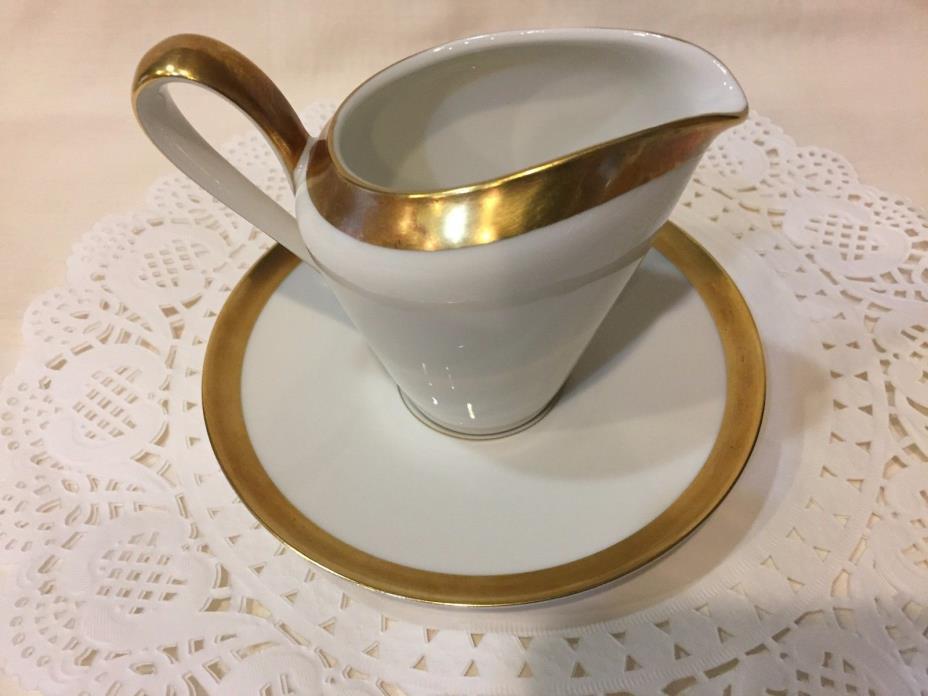 Creamer- Byzanz by H&C Selb Bavaria Heinrich Gold Encrusted Band w/Saucer Plate