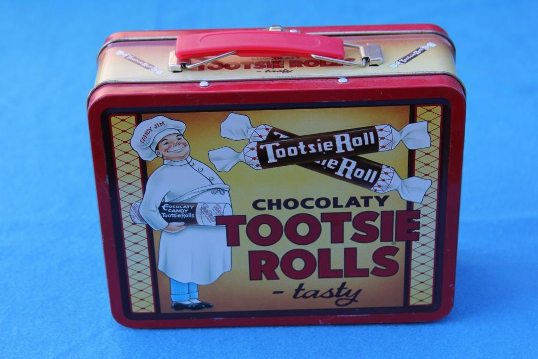 Tootsie Roll Lunch Box Tin Metal Box
