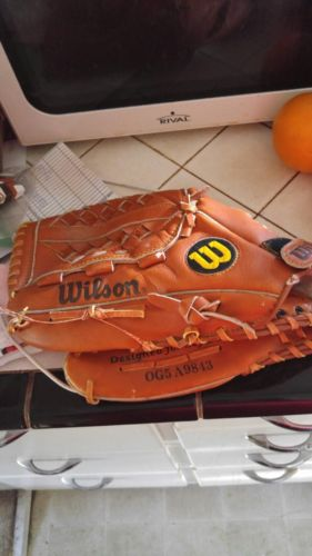 euc LHT Wilson Optima Gold Series OG5 A9843 Softball Glove Baseball Mitt