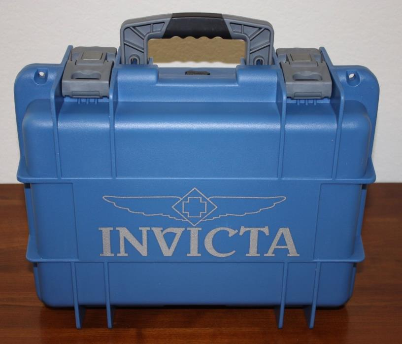 NEW INVICTA Eight 8 Slot Dive Watch Case BLUE W/ GRAY LETTERING