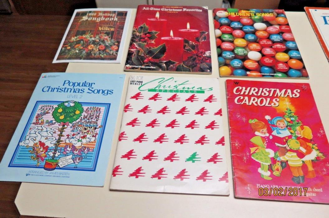 Vintage Piano Christmas Songbooks over 60 Songs 6 books Total Hal Leonard + More