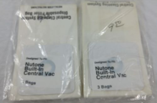 Lot of 6 NUTONE BUILT IN CENTRAL VACUUM BAGS #748167000807