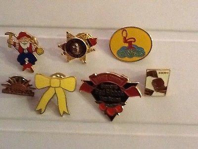 pins, lot of 7, variety