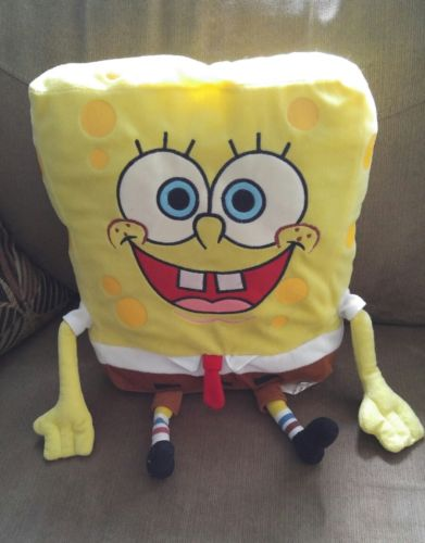 2010 Nickelodeon 18in Stuffed Spongebob Square Pants Doll