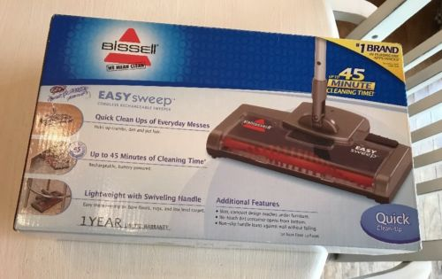 NEW BISSELL Easy Sweep Cordless Rechargeable Sweeper Bare Floor Rugs 15D1-2