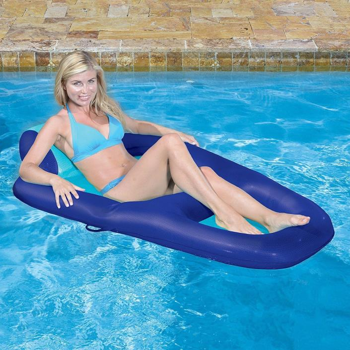 Swimming Pool Accessories Inflatable Lounge Recliner Beverage Holder Water Float