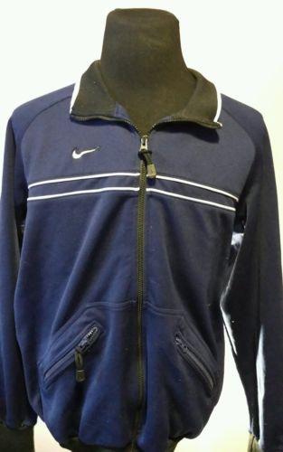 Nike Vintage Track Jacket Sz XL Zip Up Blue White Athletic Warmup Running EUC