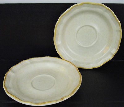 MIKASA china COUNTRY CHARM FG000 pattern Set of Two (2) Saucers