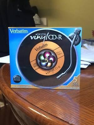 Verbatim Digital Vinyl CD-R 5 Pack Jewel Case ~ 80 Minutes / 700MB ~ Recordable