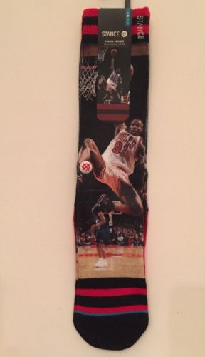 Original Stance NBA Legends Chicago Bulls Dennis Rodman Socks 100% Authentic