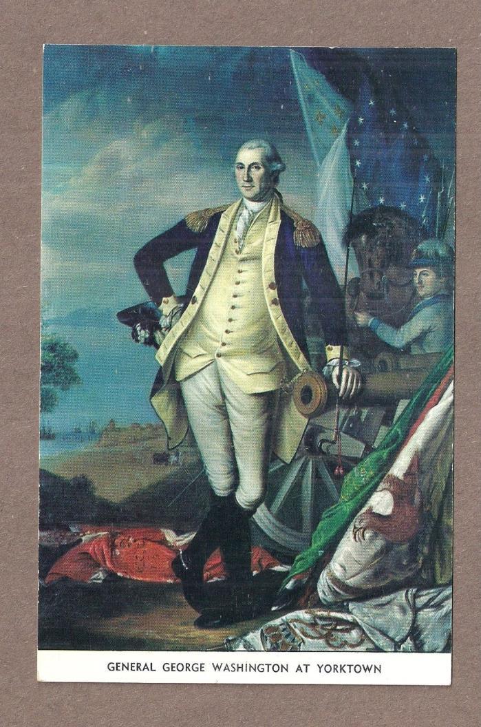 4 MILITARY GEORGE WASHINGTON REVOLUTIONARY WAR BATTLES vintage postcards.