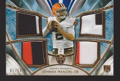 JOHNNY MANIZIEL RC 2014 TOPPS SUPREME QUAD PATCH  #'D 1/15 CARD