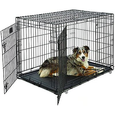 MidWest Life Crates Kennels Stages Folding Metal Dog Crate