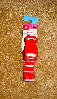 NWT Valentine DOG COLLAR Red & White Candy Stripe size L adjustable VALENTINE