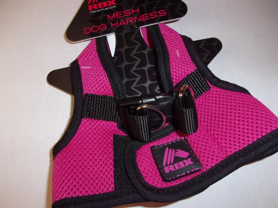 HOT PINK black STEP-IN Body Harness Vest S L XL Dog new RBX no choke free pet