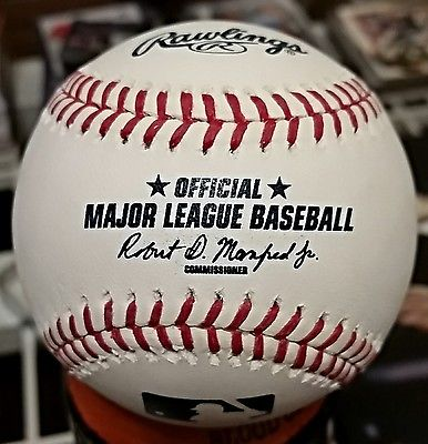 Denny McLain Autographed Baseball Private Signing Error WSC Champs 1968