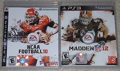 PS3 Game Lot - Madden NFL 12 (Used) NCAA Football 10 (New)