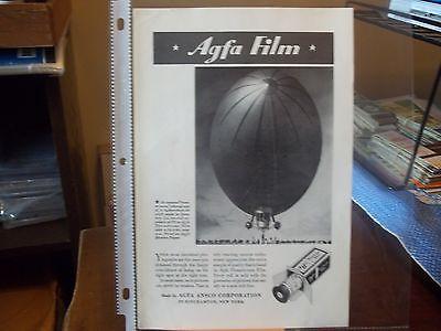 vintage print ad, 1935 Agfa Film