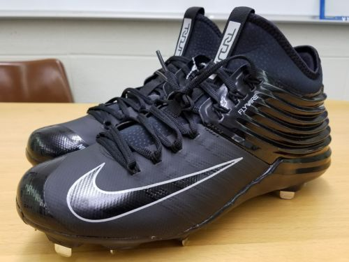 Nike Lunar Trout 2 mid metal baseball cleats black/black sz 10
