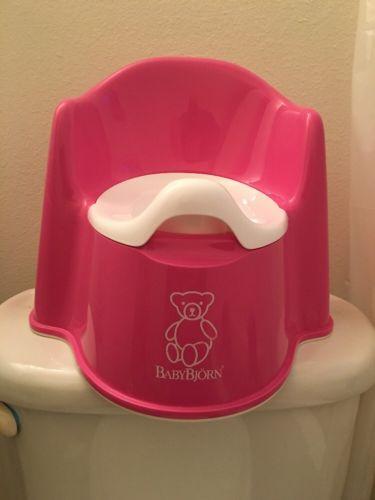 Baby Bjorn Pink Potty Chair Seat Brand New