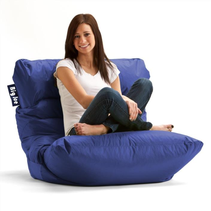 Big Joe Roma Bean Bag Chair Dorm Comfort Seat Lounge Cozy Room Limo Blue