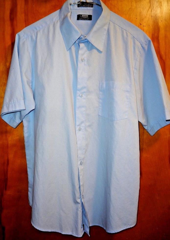 LN French Toast Boys shirt 18H short sleeve dress shirt blue school uniform 18 H