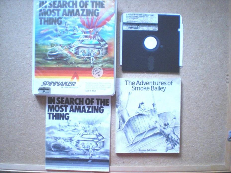In Search of the Most Amazing Thing  Spinnaker Commodore 64 Floppy Disk Vintage