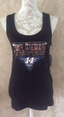NWT NASCAR For Her Tank Top Tony Stewart #14 Black Size XLarge Orig $25