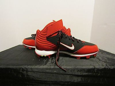 Nike Huarache Size 11.5 Men's Red & Black Baseball Shoes With  Rubber Cleats.
