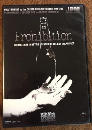 Prohibition Ultimate Cap In Bottle - DVD - Magic Trick