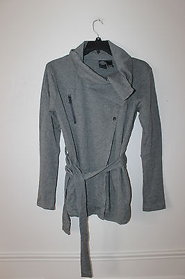 New Harley-Davidson slim fit cowl neck belted long sweater women L $95 Sale