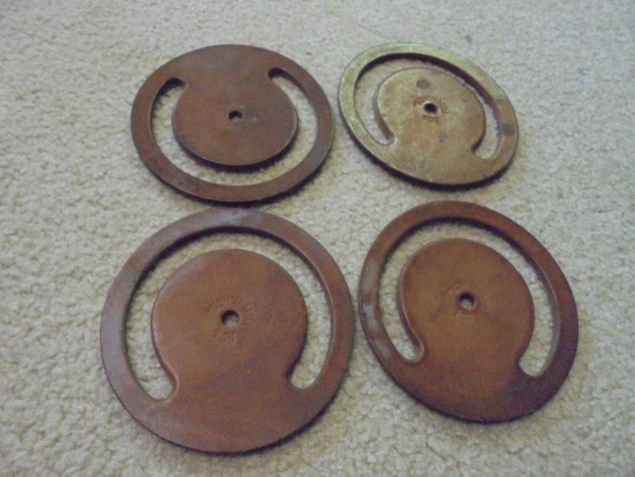 Vintage Lot of four Leather Pump Valves 4 inch cylinder