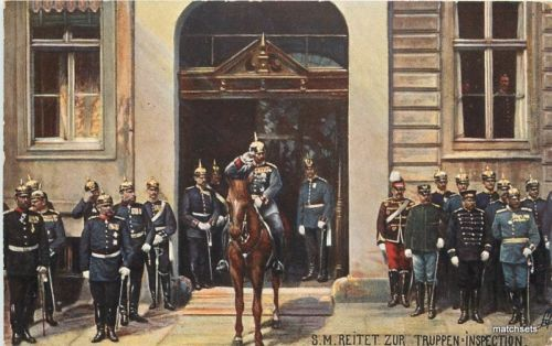 1907 German Military Troop Inspecton Tuck undivided postcard 98