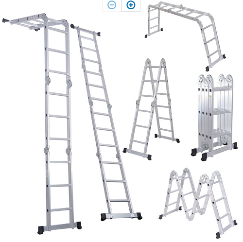 Folding Ladder Platform Lightweight Multi Purpose Extension