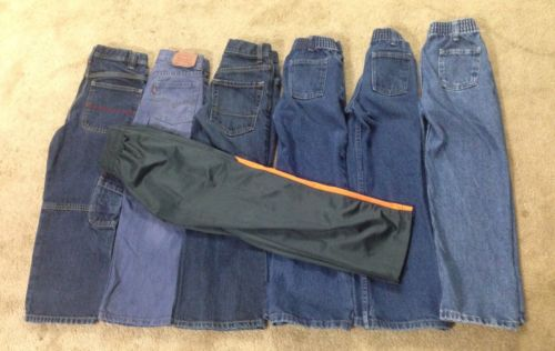 Boys Jeans size 7 Lot of 7 Levi's Old Navy Rustler 6 denim + 1 athletic pants