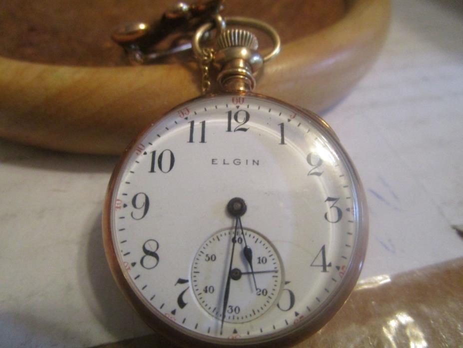 Elgin 14k GOLD Pocket watch Grade 324