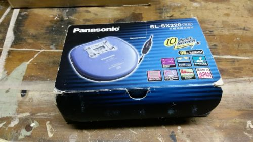 Panasonic SL-SX220 Portable CD Player Anti-Shock Made in Japan with original box