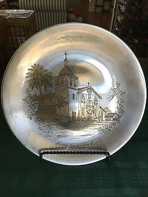 Vintage 1974 Reed & Barton Damascene Ltd Ed Plate The Mission Trail **RARE!!**