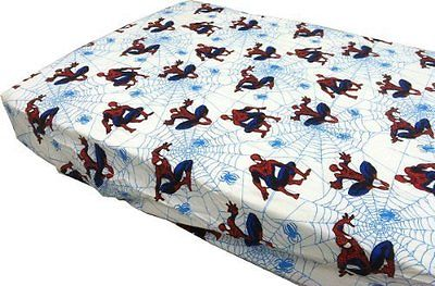Marvel SpiderMan Bed Sheet Toddler Bedding Fitted 100% Cotton - NEW