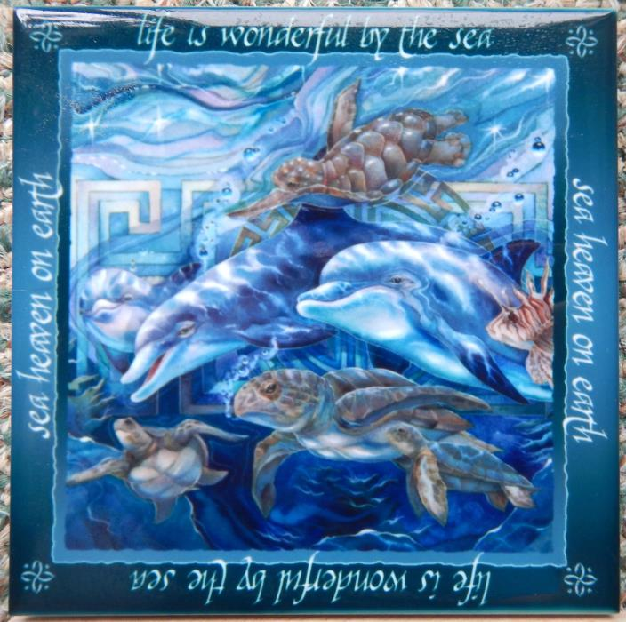 Bergams Galleries Dolphin Tile