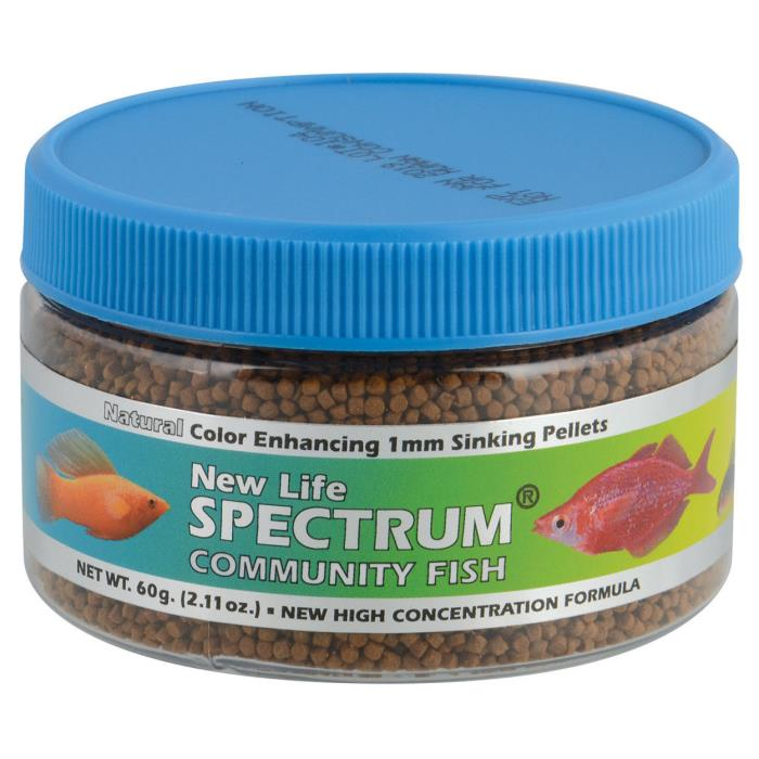 New Life Spectrum Community Fish 1mm Sinking Food, 60gm