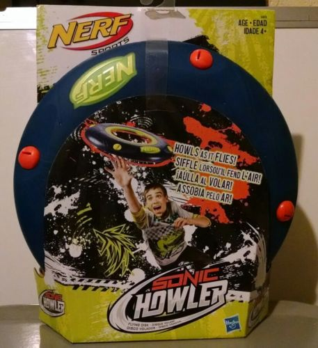 New NERF Sports Sonic Howler Flying Disc Frisbee by Hasbro, Howls As It Flies 4+