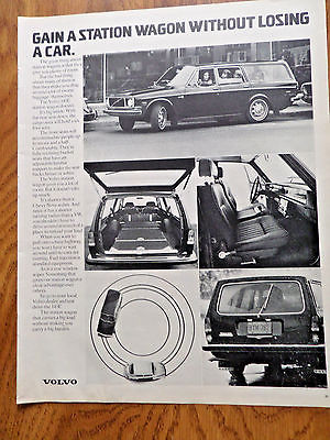 1972 Volvo Station Wagon Ad Gain a Wagon without Losing a Car