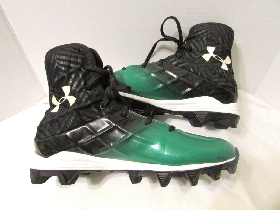 Under Armour Youth Football Cleats Shoes Highlights Size 6 Green Black Compfit