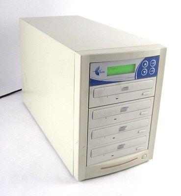 EZdupe 4: 4-Target CD DVD R RW Stand-Alone Duplicator Burner Copier Tower Unit