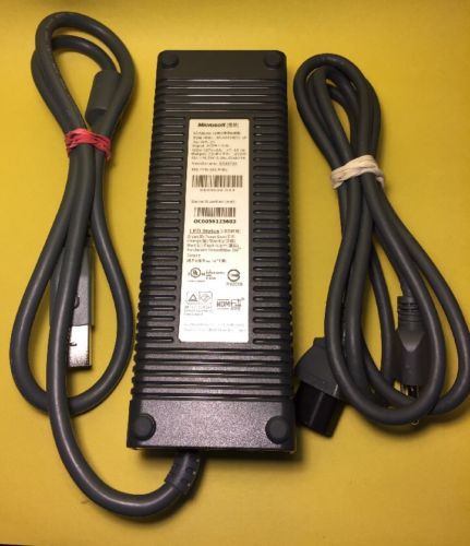 Microsoft XBOX 360 Power Supply Adapter HP-AW203EF3 LF With Power Cord (F1)
