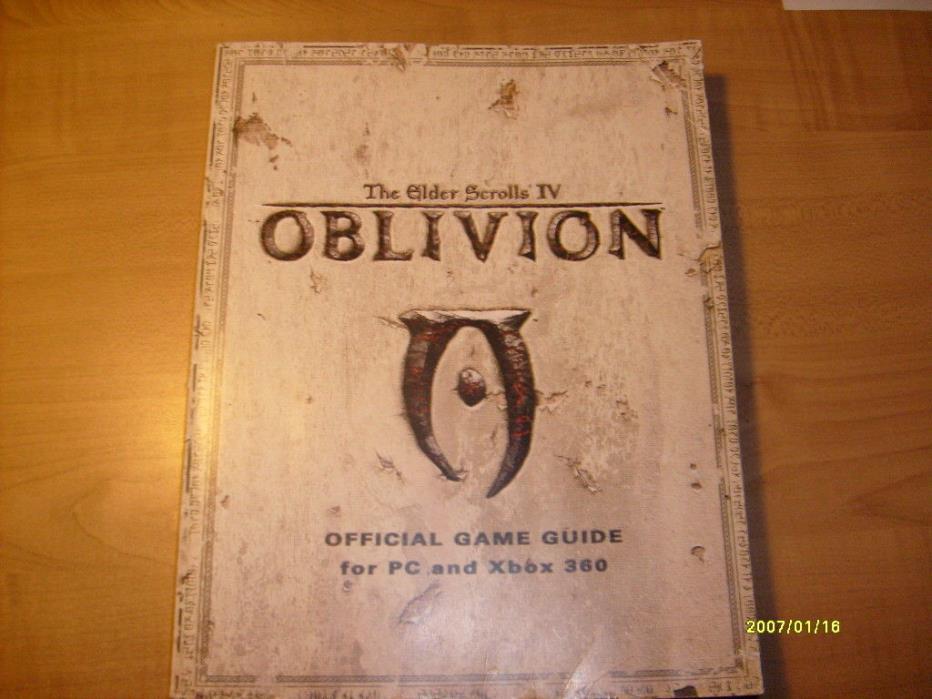 The Elder Scrolls IV Oblivion Prima Strategy Guide, PC XBOX 360, NICE!
