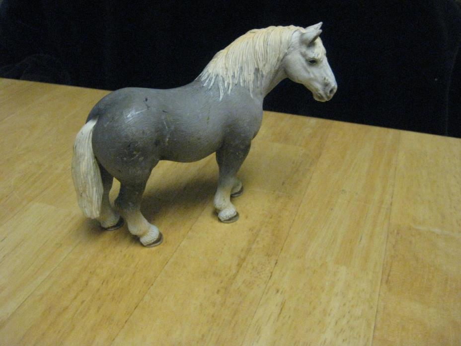 2006 Schleich Germany Toy Figure Farm Animal Horse Gray