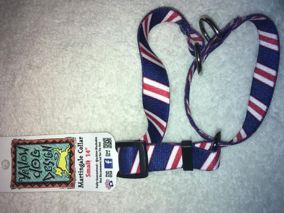 Classic Red White and Blue Martingale Dog Collar by Yellow Dog Design, Small 14