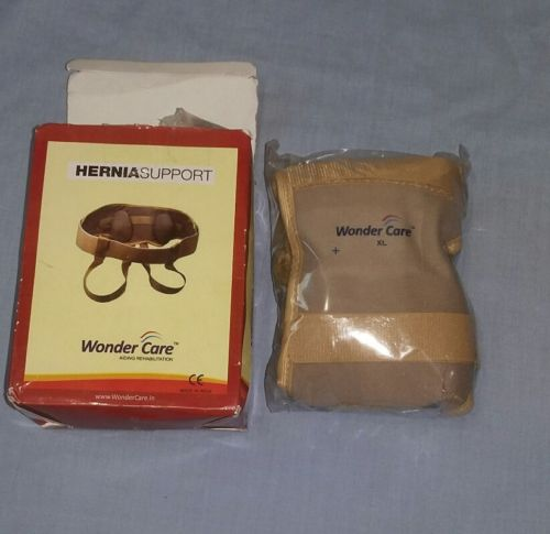 Wonder Care Inguinal Hernia Support belt Brace - Size X-Large - New Open Box